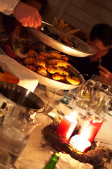 Two-Tiered Feast (photo.klick) Tags: food dinner candles sweden crawfish photoblog seafood sverige crayfish jol tylsand middag julbord saltrestaurant katsingercom