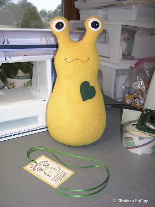 Fleece Hug Me! Slugs by Elizabeth Ruffing