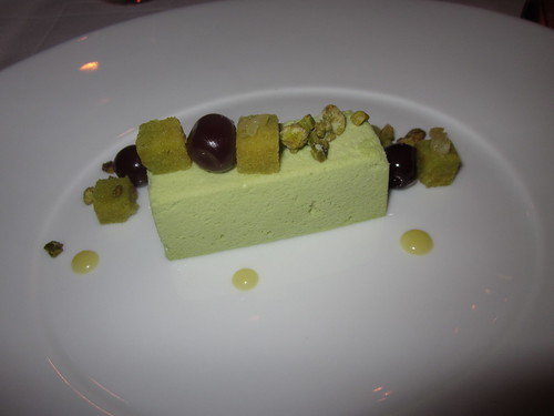 Le Bernardin - New York - December 2010 - Pistachio Mousse, Caramelized White Chocolate, Lemon, Bing Cherry