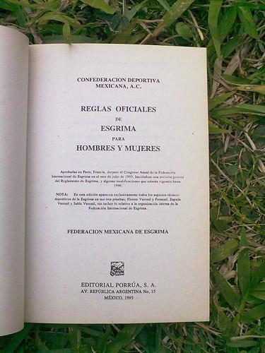 Reglamento oficial de esgrima