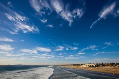 summer (Eric 5D Mark III) Tags: ocean california blue summer sky cloud seascape beach canon landscape perspective wave wideangle orangecounty huntingtonbeach ef1635mmf28liiusm eos5dmarkii