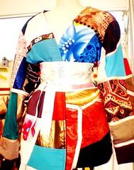 Casaco em patchwork (Zizi Anil) Tags: moda estilo blazer chita roupa saia blusa roupas casaco saias vesturio