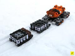 indrik03 (mahjqa) Tags: orange snow ice expedition power lego tracks arctic technic vehicle vodka functions antarctic tracked moc ornj indrik stilzkin
