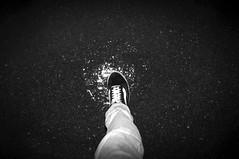 Steppin' To The Light (Daniel Hans Peter Christensen) Tags: old school light shadow white black reflection ice docks denmark shoe grey harbor dock nikon harbour leg sb600 vans esbjerg blitz danmark d90
