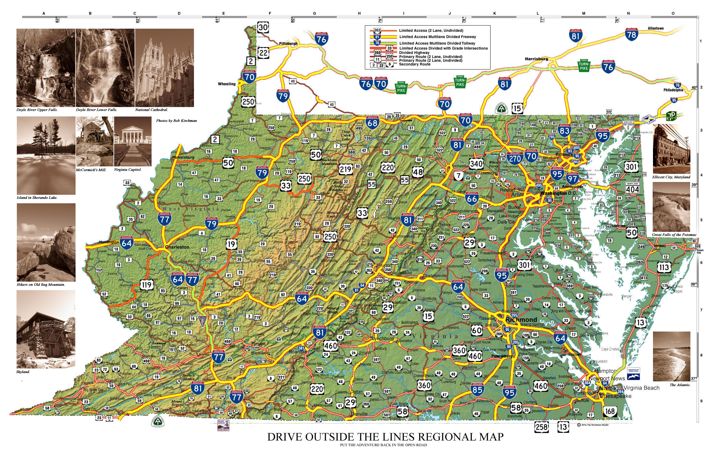 The Journey December 2010 – Virginia Travel Map