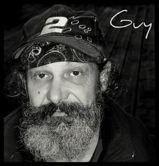 Every man is a volume.... (cvanstane) Tags: bw guy pier friend vet character beards portangeles