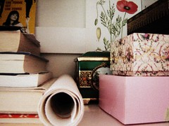 cupboard storage (Le Portillon) Tags: floral fashion print do books read boxes but laduree godard