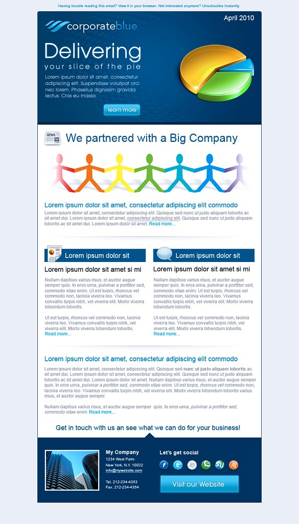 Corporate Blue Email Template