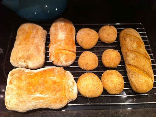 Ciabatta, rolls and bâtard loaf