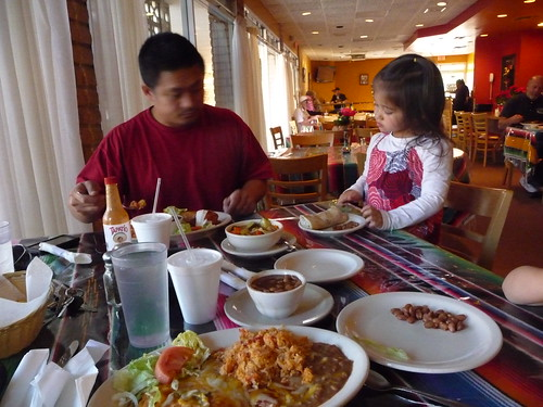 Mexican food at Borrego Springs.
