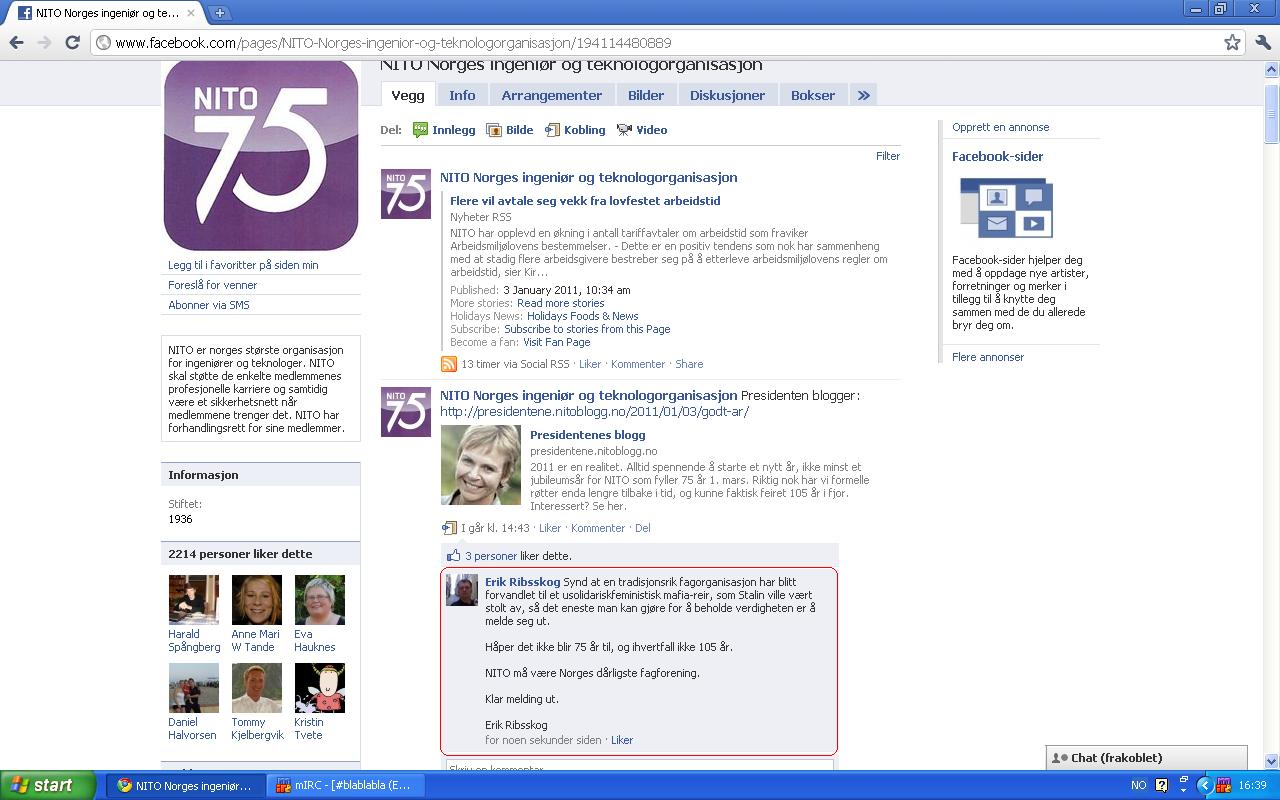 klage på nito på facebook