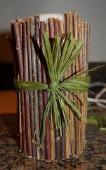 Rustic Tree Branch Candles