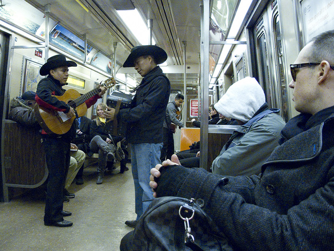 Street music on the subway