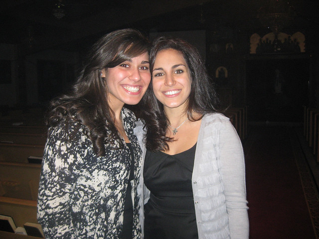 Monica Youssef and Friend Celebrate Coptic Christmas Mass