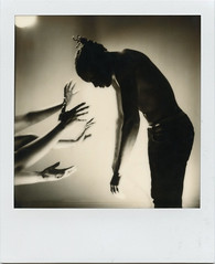 Untitled (Adam Peditto) Tags: light portrait sun white black men guy adam art film philadelphia girl monochrome silhouette sepia project polaroid women arms african chest institute american 600 instant 660 impossible px peditto panpola