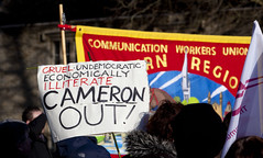 Witney Protest (Nick Atkins Photography) Tags: protest royalmail witney davidcameron westoxfordshire communicationworkersunion nickatkinsphotography canoneos5dmkii