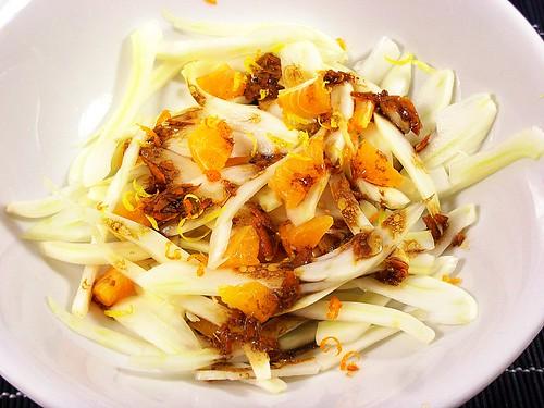 insalata di finocchio, arancia e liquirizia