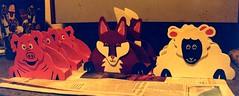 Animal Letter Racks. (messy_beast) Tags: painting pig sheep fox cutouts acrylics wodden