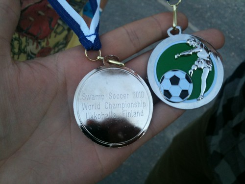 Swamp Soccer World Championships 2010. Silver medals.
