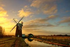 Dawn over Horsey Mill (Mr Aperture1977) Tags: camera sky cloud mill water landscape paul wind sony norfolk national trust alpha dslr broad spree horsey