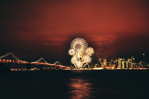 fireworks at San Francisco