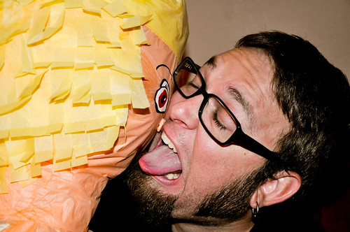 David Makes Out With Piñata