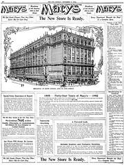 Macy's ad - 1902 - NYC (Oldimages) Tags: usa retail architecture shopping store advertisement departmentstore macys department kaufhaus grandmagasin retailing almacen granalmacén grandesalmacénes
