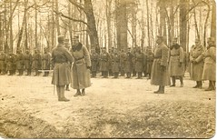 Visit. WW1 photo (elinor04) Tags: wood winter men vintage army photo uniform postcard soldiers ww1 1910s hungarian officers austrohungarian