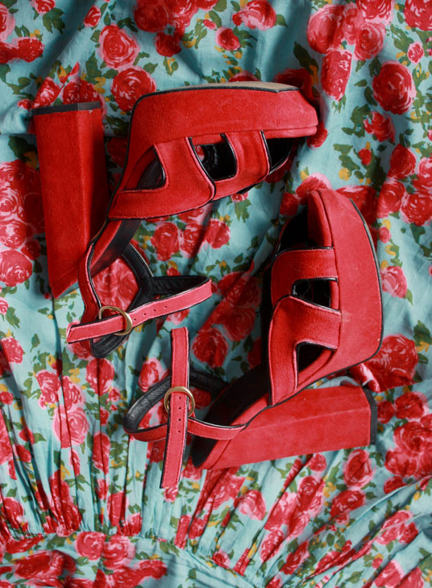 red shoes roses b