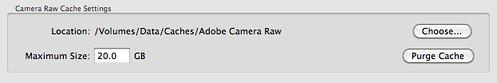 Camera Raw Cache