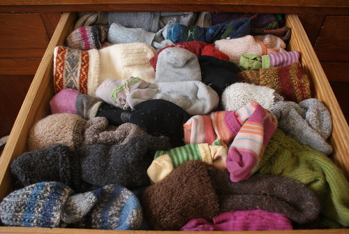 Winter sock drawer
