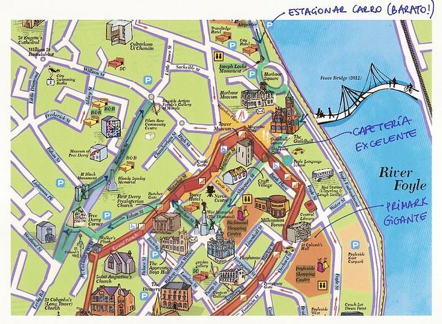 Mapa Derry - Irlanda do Norte