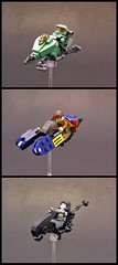 Movie/Video Game speeders (Legohaulic) Tags: lego bladerunner alien halo videogames movies speederbike