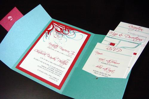 Aqua Tiffany Blue and Red Wedding Invitations Flickr Photo Sharing