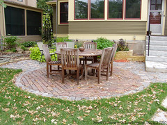 Salvaged Granite Cobble & Clay Paver Patio (Switzer's Nursery & Landscaping) Tags: minnesota landscape design landscaping glenn cobble patio clay granite northfield interlocking pavers switzers salvaged switzer landscapedesign designbuild hardscape hardscaping glennswitzer icpi patiodesign switzersnursery landscapedesigns switzersnurserylandscaping