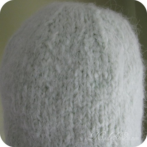 blocking a dome shaped knit hat