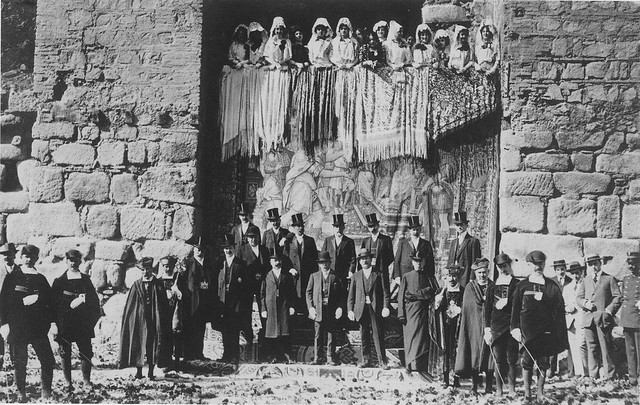 Recibimiento a Raymond Poincaré en la Puerta de Alcántara en octubre de 1913. The Hispanic Society of America