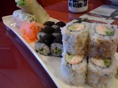 Ebi roll sushi combo at Fumiyoshi Sushi