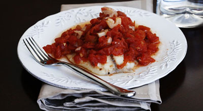 Baked Tilapia with White Wine and Tomatoes