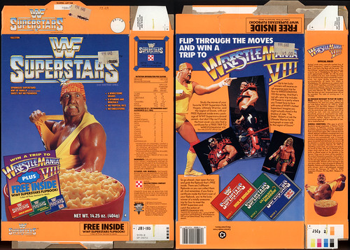 Ralston - WWF Superstars cereal box - Hulk Hogan - 1991
