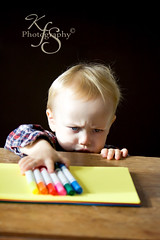 A Clean Steal (Kidzmom2009) Tags: boy cute toddler angry blondehair misbehaving mischevious defiant notlistening furrowedbrow gettyimageswant gettyimageswants gettywants familygetty2010 stealingmarkers defianttoddlers gettyimagesfranceq1