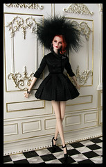 Dark Swan at the Palace 1 (think_pink1265) Tags: fashionroyalty darkswan elisejolie