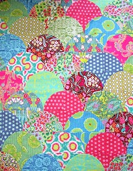 Clamshell progress (alobsiger) Tags: quilt quilting patchwork clamshell amybutler drunkardspath curvedpiecing soulblossoms