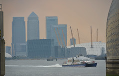 The O2 Arena (scuba_dooba) Tags: uk england london thames boat ship warf flood o2 arena barrier canary protection protect
