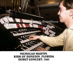 Nicholas Martin. First visit to Kirk of Dunedin. FL. 1985 (1) (gramrfone) Tags: cinema theatre organists
