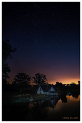 Starry starry night (isitaboutabicycle) Tags: stars astrophotography boat boathouse reflections nightsky cartonhouse kildare ireland