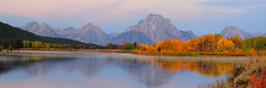 Oxbow Twilight (alan.griffin16) Tags: grandtetonnationalpark oxbowbend oxbow snakeriver fall mountains foilage reflection