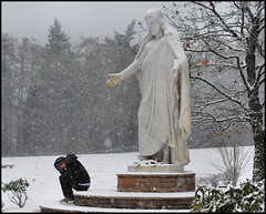 jb1 (Gil Aegerter) Tags: snow cemetery graveyard statue wonderful nikon christ jesus 55mm manual nikkor brier wonderfulphotos 55mmf28aismicro gilaegerter