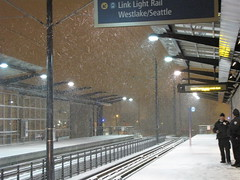 Snow at Mount Baker Link Station (litlnemo) Tags: seattle snow station link mountbaker mtbaker rainiervalley linklightrail snomg snopocalypse