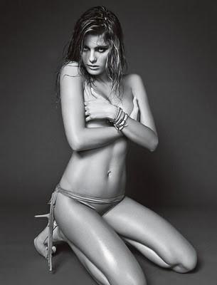 Isabeli Fontana for Homem Vogue Magazine January 2010